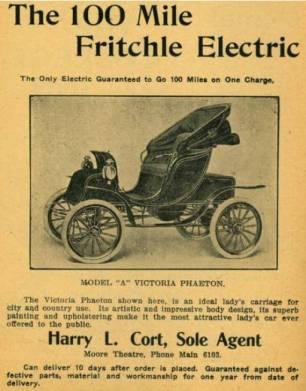 Carro Eletrico incio do século XX