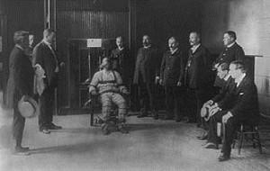 William Kremmler sendo executado na cadeira elétrica